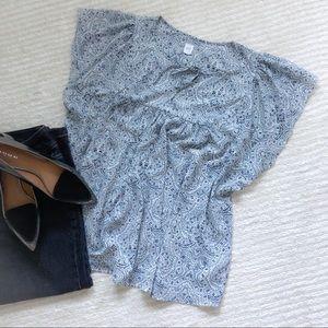 Gap boho printed blouse